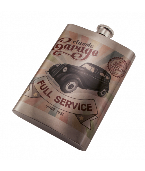 Silver 8oz Stainless Steel Flask