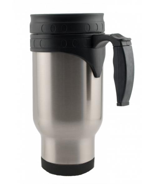 Silver Stainless Steel Travel Mug with Insert