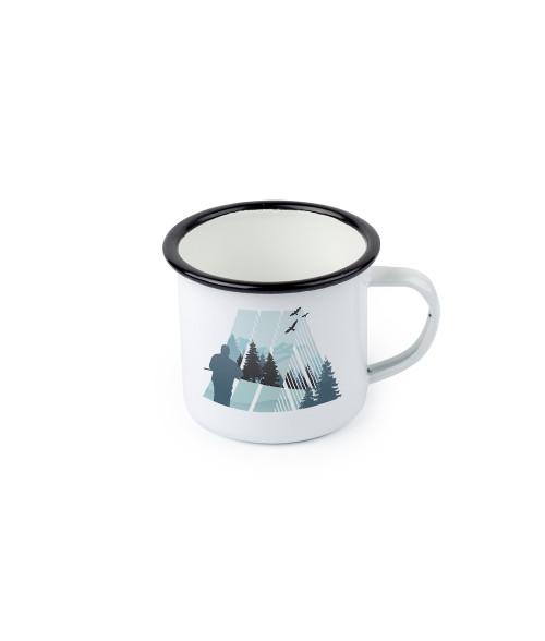 12oz Black Edge Camp-Style Enamel Mug