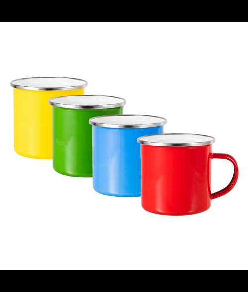 12oz Enamel Mug with Flat Bottom
