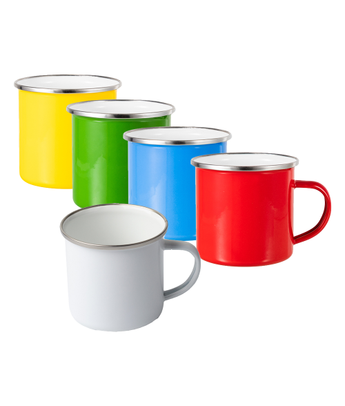 12oz Enamel Mug with Flat Bottom