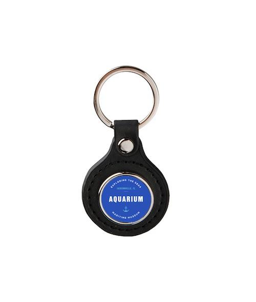 Black Round Key Chain
