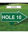 "FusionCore Series 100 Arrow Golf Sign with Integrated Spike (10"" x 8"")"