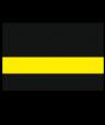 "Rowmark Satins Black/Yellow 1/16"" Engraving Plastic"