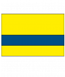 Rowmark Satins Yellow/Blue Engraving Plastic