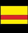 "Rowmark Satins Yellow/Red 1/16"" Engraving Plastic"
