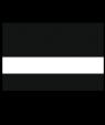 "Rowmark Satins Black/White 3/32"" Engraving Plastic"