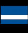 "Rowmark Value Mattes Sapphire Blue/White 1/16"" Engraving Plastic"