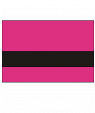 "Rowmark Mattes Ribbon Pink/Black 1/16"" Engraving Plastic"