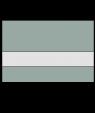 "Rowmark Ultra-Matte Reverse Clear/Sea Grey 1/16"" Engraving Plastic"