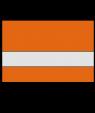 "Rowmark Ultra-Matte Reverse Clear/Orange 1/16"" Engraving Plastic"