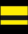 "Rowmark Ultra-Mattes Yellow/Black 1/8"" Engraving Plastic"