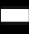 "Rowmark Ultra-Mattes Black/White/Black 1/8"" Engraving Plastic"