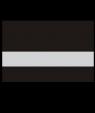 """Rowmark FlexiBrass Gloss Black/Silver .020"""" Engraving Plastic"""