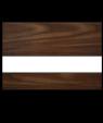 "Rowmark LaserMark Matte Walnut/White .052"" Engraving Plastic"