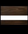 "Rowmark LaserMark Matte English Walnut/White .052"" Engraving Plastic"