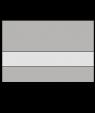 "Rowmark LaserMark Reverse Matte Clear/Smooth Silver 1/16"" Engraving Plastic"
