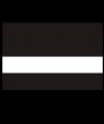 """Rowmark LaserMark Matte Black/White .052"""" Engraving Plastic"""