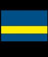 "Rowmark LaserMark Matte Blue/Yellow .052"" Engraving Plastic"