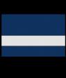 "Rowmark LaserMark Reverse Matte Clear/Navy Blue 1/16"" Engraving Plastic"