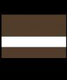 "Rowmark LaserMark Matte Medium Brown/White .052"" Engraving Plastic"