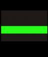 "IPI Blacklites Black/Radical Green 1/16"" Engraving Plastic"
