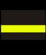 "IPI Blacklites Black/Terminal Yellow 1/16"" Engraving Plastic"