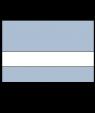 "IPI Euro Color Matte Stone Blue/White 1/16"" Engraving Plastic"