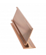 "JRS Polished Rose Gold 2"" x 8"" #30 Desk Holder for 1/16"" Thick Material"