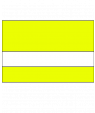 """IPI Electrics Terminal Yellow/White 1/16"""" Engraving Plastic"""
