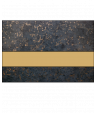 "IPI Gold Coast Gloss Deep Charcoal Gold Fleck/Bright Gold 1/32"" Engraving Plastic"