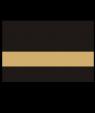 "IPI Gold Coast Matte Black/Bright Gold 1/32"" Engraving Plastic"