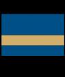 IPI Gold Coast Matte Blue/Bright Gold Engraving Plastic