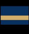 "IPI Gold Coast Matte Navy Blue/Bright Gold 1/32"" Engraving Plastic"