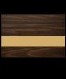"IPI Gold Coast Matte Dark Walnut/Bright Gold 1/32"" Engraving Plastic"