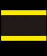 "Rowmark Heavy Weights Yellow/Black/Yellow 1/2"" Engraving Plastic (48"" x 96"" Sheet)"