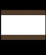 "Rowmark Heavy Weights Brown/White/Brown 1/2"" Engraving Plastic (48"" x 96"" Sheet)"