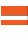 "Rowmark LaserMax Orange/White 1/32"" Engraving Plastic"