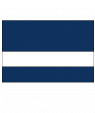 "Rowmark LaserMax Patriot Blue/White 1/16"" Engraving Plastic"