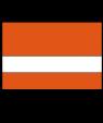 "Rowmark LaserMax Tangerine/White 1/16"" Engraving Plastic"