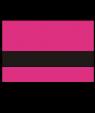 "Rowmark LaserMax Ribbon Pink/Black 1/16"" Engraving Plastic"