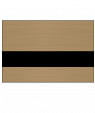 "Rowmark LaserMax Brushed Copper/Black 1/16"" Engraving Plastic with NoMark Coating"