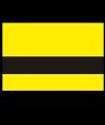 "IPI Laser TuffTex Textured Yellow/Black 1/16"" Engraving Plastic"