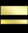 "IPI Laserthin Gloss Bright Gold/Black .026"" Engraving Plastic"