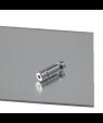 "Rowmark Reflexions Matte Clear/Platinum Mirror 1/8"" Engraving Plastic"