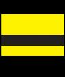 "Rowmark UltraGrave Matte Yellow/Black .020"" Engraving Plastic"