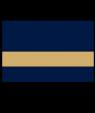 "Rowmark UltraGrave Matte Navy Blue/Gold 1/16"" Engraving Plastic"